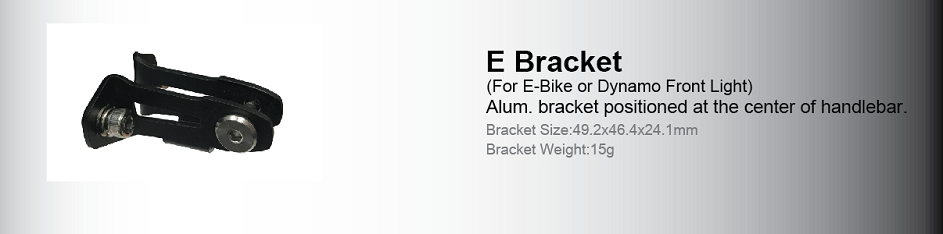 Type E Bike Light Mounting Bracket