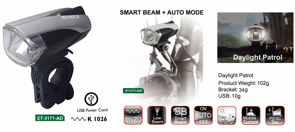 ET-3171-AD LED Bike light