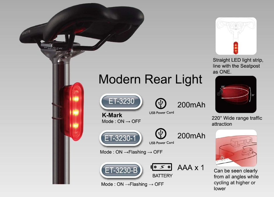 ET-3230 K-Mark Modern Bike Rear Light